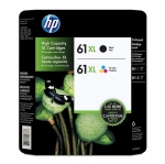 HP 61XL Black & Tri-Color High Yield Ink Cartridge Value Pack