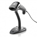 HP Linear Barcode Scanner USB Black - Includes Stand