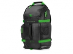 HP Odyssey 15.6 Inch Laptop Backpack - Black/Green