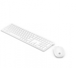 HP Pavilion 800 Wireless Slim Keyboard and Mouse - Swiss White