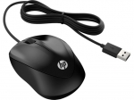 HP 1000 USB Wired Ambidextrous Mouse - Black