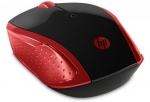 HP 200 Wireless Ambidextrous Optical Mouse – Empress Red