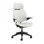 Humanscale Freedom Fabric Chair with Head and Arm Rests - White