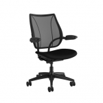 Humanscale Liberty Task Office Chair with Adjustable Arm Rests - Black