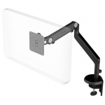 HumanScale M2 Single Monitor Desk Mount Bracket - Black