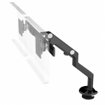 HumanScale M8 Dual Monitor Desk Mount Bracket - Black