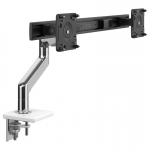 Humanscale M8.1 Dual Monitor Arm Clamp - White