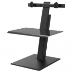 HumanScale Quickstand Eco Dual Monitor Sit-Stand Workstation - Black