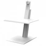 HumanScale Quickstand Eco Single Monitor Sit-Stand Workstation - White