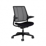 Humanscale Diffrient Smart Office Chair with Adjustable Arm Rests - Black