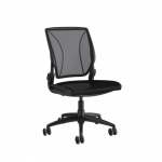 HumanScale Diffrient World Mesh Oxygen Armless Office Chair - Black