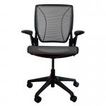 HumanScale World One Office Chair with Arm Rests - Black