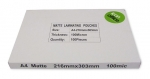 Icon A4 100 micron Laminating Pouches Matte - 100 Pack