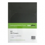 Icon A4 250gsm Binding Covers Black - 100 Pack