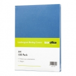 Icon A4 250gsm Binding Covers Blue - 100 Pack