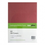 Icon A4 250gsm Binding Covers Red - 100 Pack