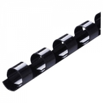Icon 6mm Plastic Binding Coil Black - 100 Pack
