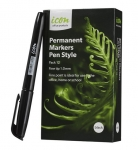 Icon Black Pen Style Permanent Marker - 12 Pack