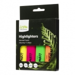 Icon Chisel Tip Highlighter Assorted - 4 Pack