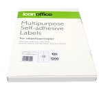 Icon 105 x 49.5mm Multipurpose Self-Adhesive White Labels - 1200 Pack