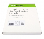 Icon 99.1 x 38.1mm Multipurpose Self-Adhesive White Labels - 1400 Pack