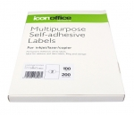 Icon 210 x 148mm Multipurpose Self-Adhesive White Labels - 200 Pack
