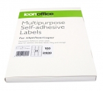 Icon 64 x 33.86mm Multipurpose Self-Adhesive White Labels - 2400 Pack