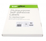 Icon 70 x 29.7mm Multipurpose Self-Adhesive White Labels - 3000 Pack