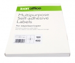 Icon 105 x 148mm Multipurpose Self-Adhesive White Labels - 400 Pack