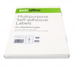 Icon 99.1 x 67.7mm Multipurpose Self-Adhesive White Labels - 800 Pack