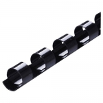 Icon 10mm Plastic Binding Coil Black - 100 Pack