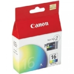 Canon BCI-16 Tri-Colour Ink Cartridge - Twin Pack