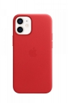 Apple Leather MagSafe Case for iPhone 12 Mini - Red