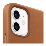 Apple Leather MagSafe Case for iPhone 12 Mini - Saddle Brown