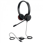 Jabra Evolve 30 II UC MS Wired Duo USB Headset - Optimised for Microsoft Skype for Business