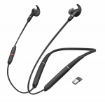 Jabra Evolve 65e UC Bluetooth In Ear Wireless Stereo Headset with Noise Cancelling & Link 370 - Optimised for Microsoft Business Applications