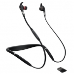 Jabra Evolve 75e MS Bluetooth Wireless In-Ear Headset + Link 370 USB Bluetooth Adapter - Optimised for Microsoft Business Applications