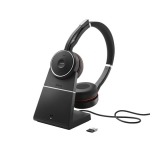 Jabra Evolve 75 UC Bluetooth Wireless Stereo Headset with Active Noise Cancelling + Charging Stand