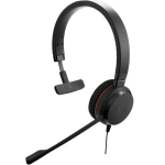 Jabra Evolve 20SE MS USB Over The Head Wired Mono Headset with Leatherette Ear Cushions - Optimised for Microsoft Business Applications