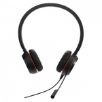 Jabra Evolve 20SE UC USB Over The Head Wired Stereo Headset Leatherette Ear Cushions