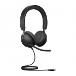 Jabra Evolve2 40 UC USB-C Over the Head Wired Stereo Headset with Noise Cancelling