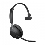 Jabra Evolve2 65 MS USB-A Bluetooth Over the Head Wireless Mono Headset - Black - Optimised for Microsoft Business Applications