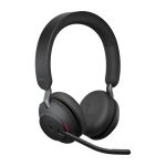 Jabra Evolve2 65 MS USB-A Bluetooth Over the Head Wireless Stereo Headset - Black - Optimised for Microsoft Business Applications