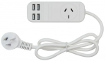 Jackson 1 Outlet Power Board with 4x 3.4A USB Charging Outlets