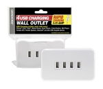 Jackson 4 Port USB Wall Outlet Rapid Charger 3.15A