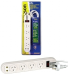 JACKSON 4 way Protected Power Board with Telephone line protection