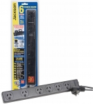Jackson 6 Outlet Powerboard with Surge & Overload Protection