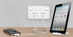 Jackson Double Power Outlet with x 2 USB Charging Ports 1A