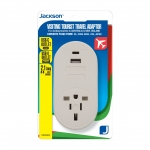 Jackson Inbound Travel Adaptor with 1 USB-A and 1 USB-C port for Converting USA, Japan, UK & Hong Kong Plugs to NZ & Australia