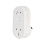 Jackson 2 Outlet Surge Protected Double Adapter